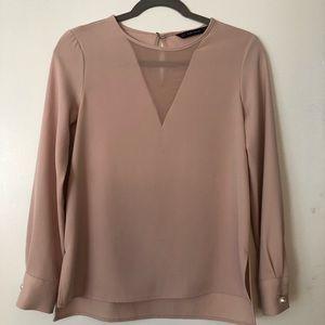 Zara blouse, blush pink, size XS